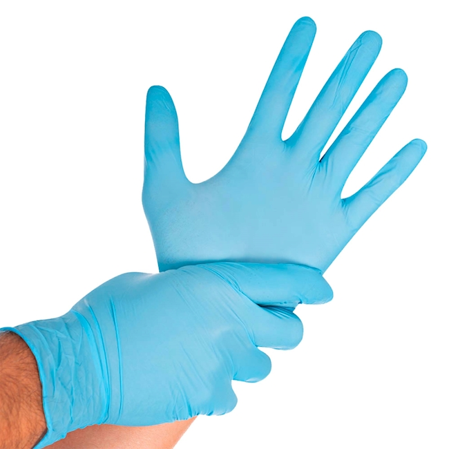 Gants en nitrile SAFE LIGHT Blue, S