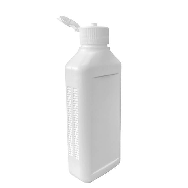 Flacon de dosage à jet 250 ml blanc,  PE-HD